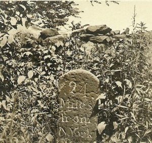 Mile Marker #24 in front of Jay photo circa 1905